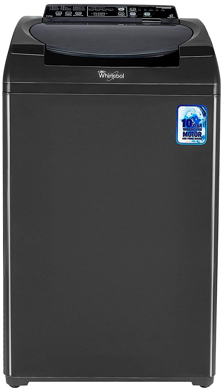 Whirlpool 6.2 kg Fully-Automatic Top Loading Washing Machine (Stainwash Deep Clean 62-Grey 10YMW, Grey)