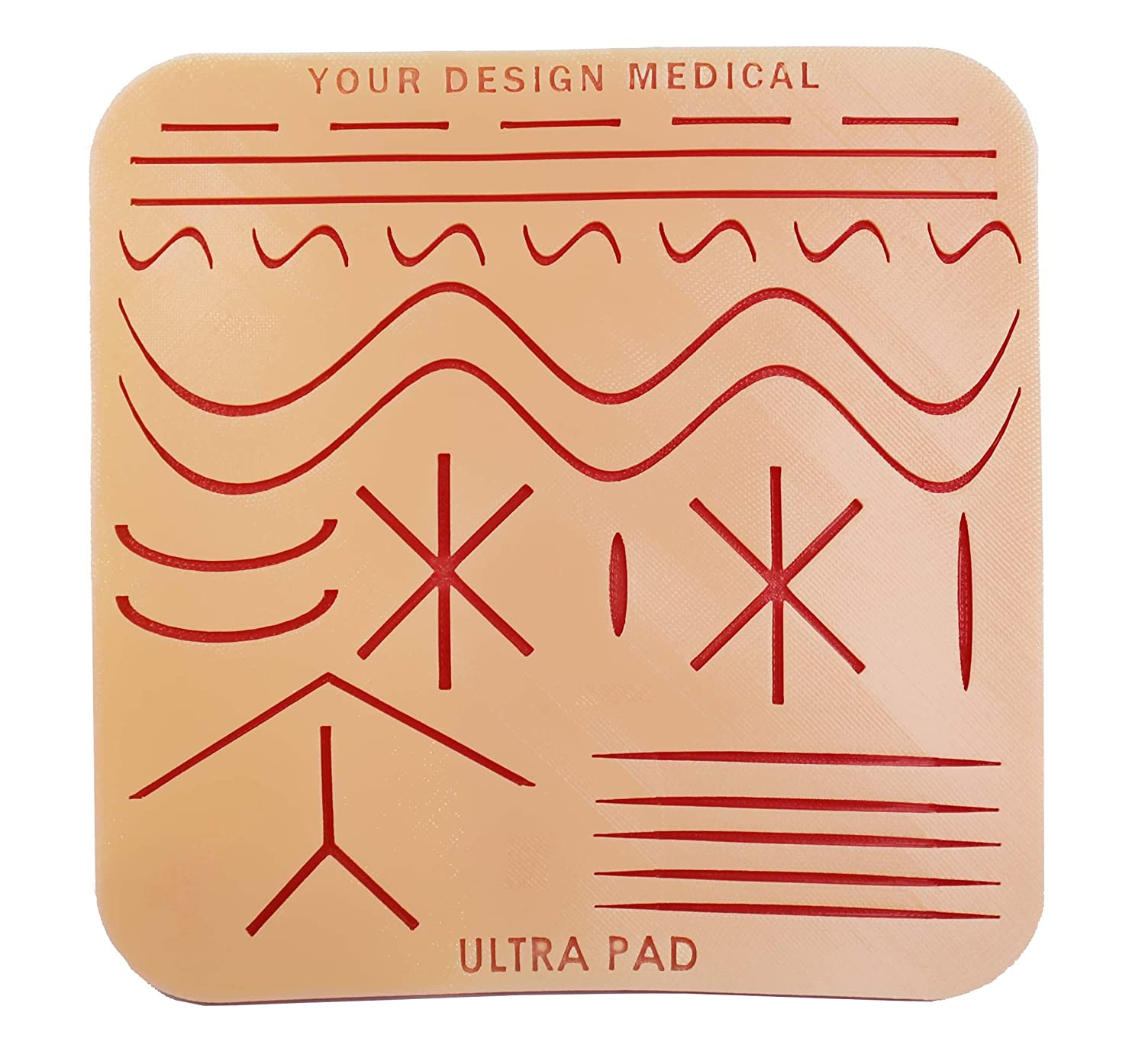 Your Design Medical – 8x8' Durable UltraPad 3-Layer Suture Pad - 64 Square inches with 28 Wounds -–The Largest Suturing Practice Pad Available! Made in Brooklyn, USA – Access to Free Educational Mate