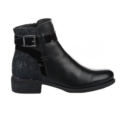 meilleur site web bd717 3b26b Boots femme - PAULA URBAN - Noir - 14679 - Millim: Amazon.fr ...