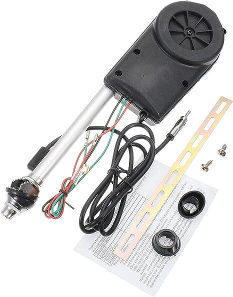 Dasket Antena eléctrica Accesorios de Montaje Completo Kit FM Am Radio para el Coche Instalar Desplazada ala del Coche