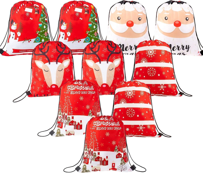 New Christmas Fancy Gift Bags Glitter Santa Xmas Handles Party Shopping