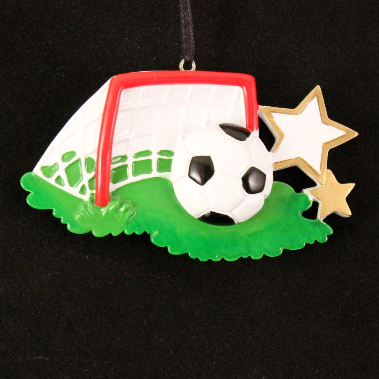 Amazon.com: 2482 Soccer Ball Hand Personalized Christmas Ornament ...