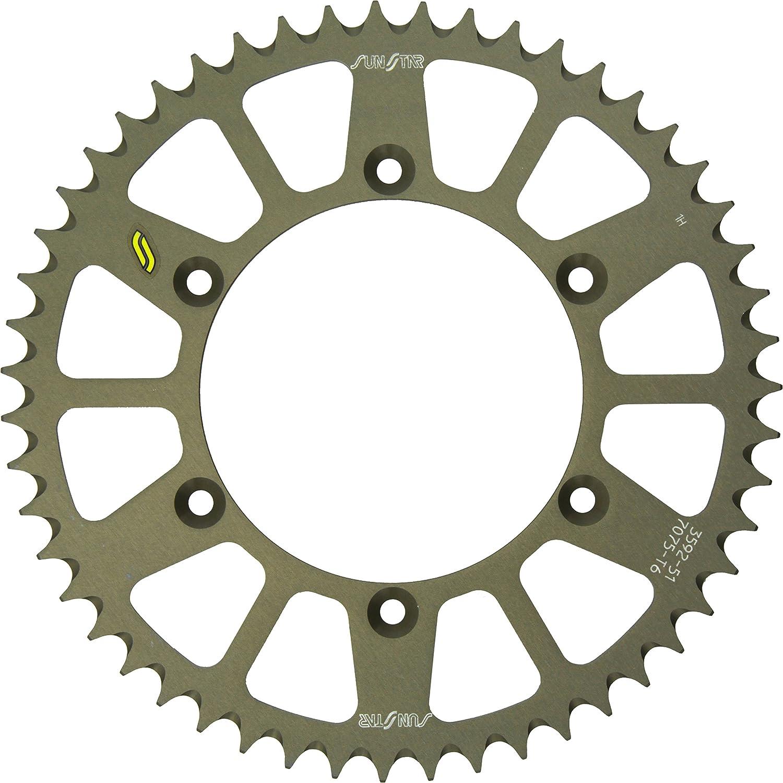 Sunstar 5-359251 Works Triplestar 51-Teeth 520 Chain Size Rear Aluminum Sprocket
