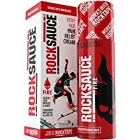 RockTape RockSauce Fire, Hot Pain Relief Gel, with Capsaicin, Methyl Salicylate & Menthol, Can Use with Kinesiology Tape, Roll-On, Various Sizes
