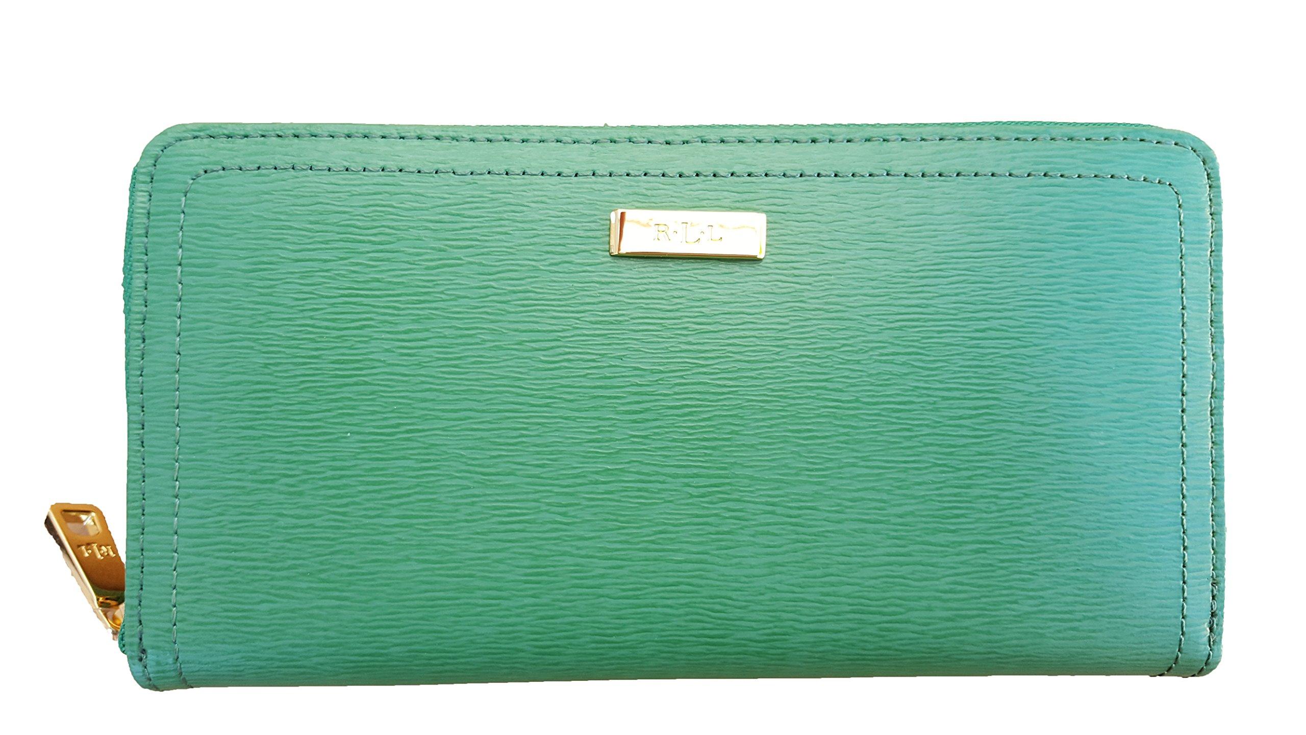 Lauren Ralph Lauren Lowell Zip Wallet (One Size, Fern)