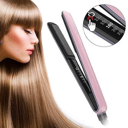 Plancha para el pelo, sumlife MCH plancha para el pelo de cerámica turmalina LED Touch