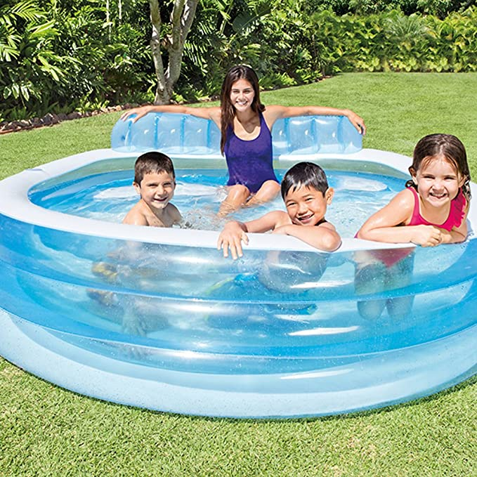 Intex 57190NP - Piscina hinchable con sillón 224 x 216 x 76 cm ...