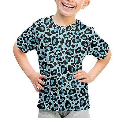 69be74c7 Queen of Cases Bright Leopard Print Blue - 2 - Kids Sport Mesh T-Shirt