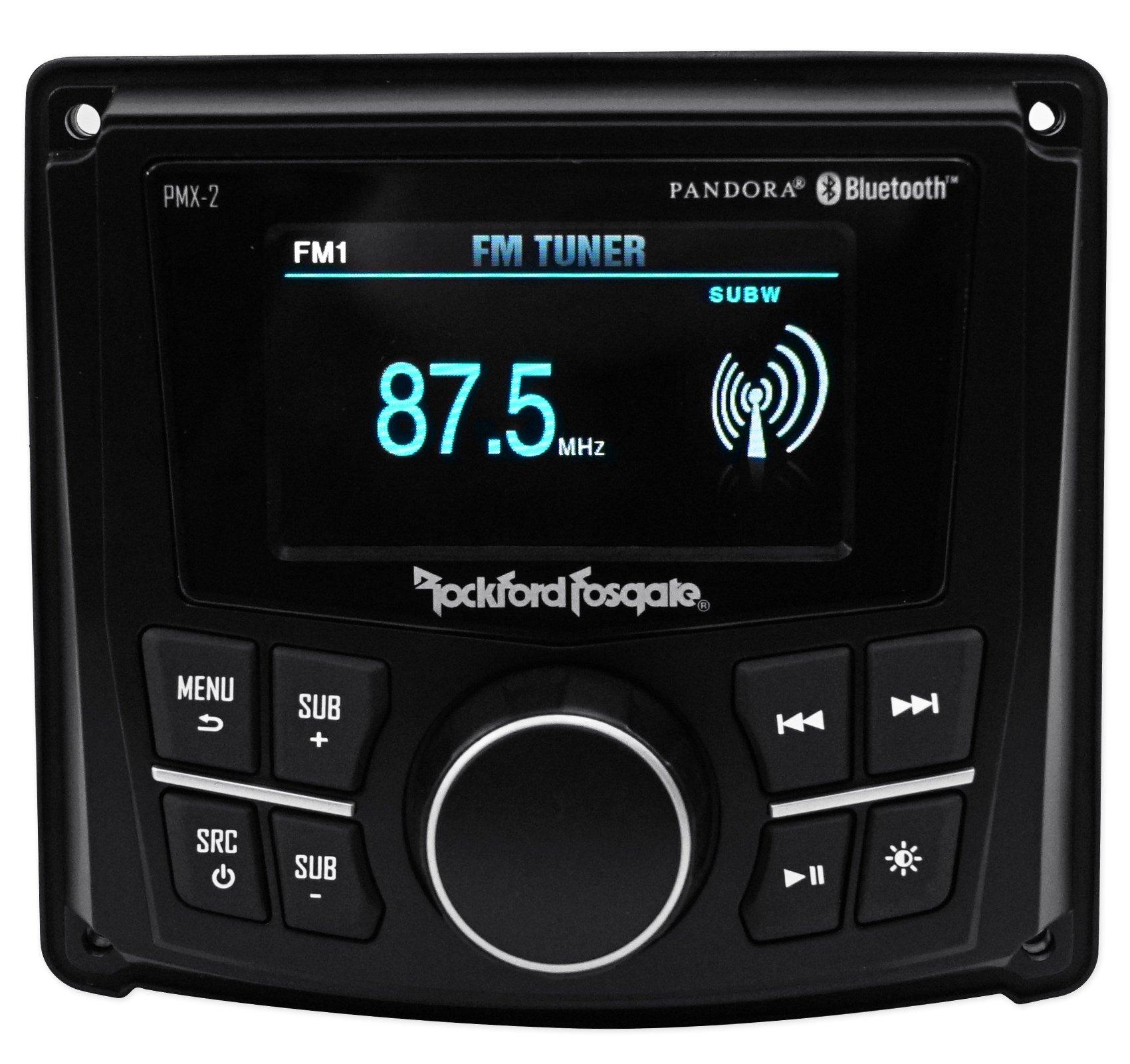Rockford Fosgate PMX-2 2.7'' Digital Media Bluetooth Receiver 4 ATV/UTV/RZR/Cart