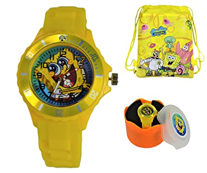 Children's Watches 2018 New Children Boys Girls Fashion Cool Cartoon Spongebob Quartz Wrist Watches Students Kids Fashion Leather Strap Watch