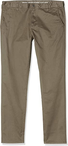 dockers Alpha Original Khaki Slim-Stretch Twill Pantalones para Hombre