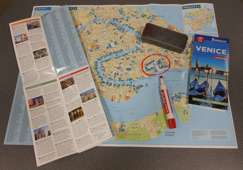 Michelin Venice City Map Laminated