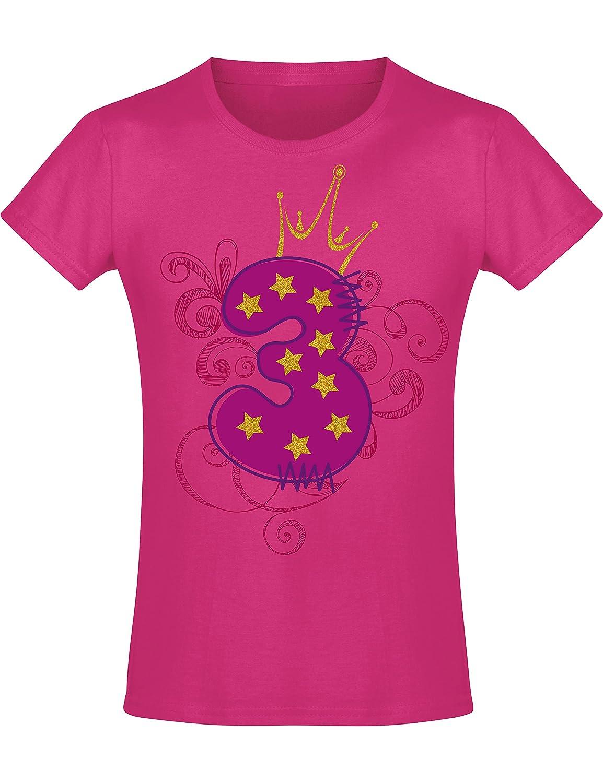 Camiseta de Cumpleaños - 3 Años con Corona y Brillo - Año ...
