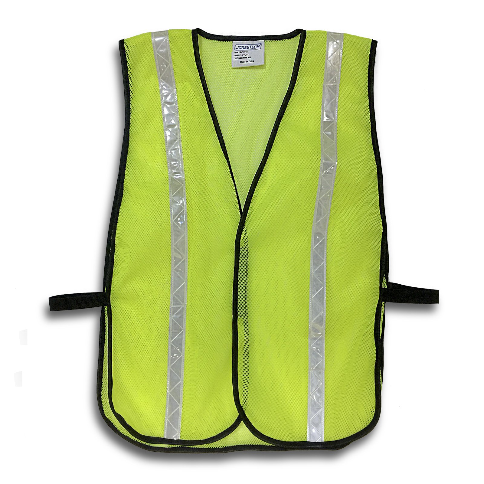 JORESTECH Emergency High visibility safety vest with reflective stripes (50 Vest, Yellow)
