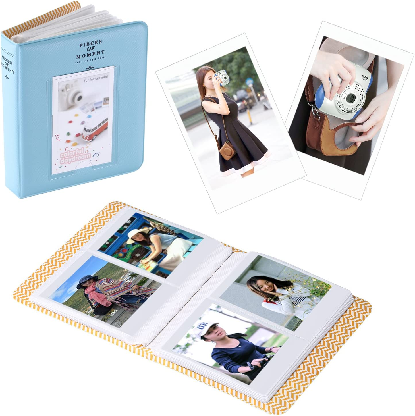 Brown Camera Case with Strap,Blue Album,4 Colored Filters,5 Film Table Frames,20 Wall Hanging Frame,40 Border Stickers,2 Corner Stickers,Pen Neewer 10-in-1 Accessory Kit for Fujifilm Instax Mini 26