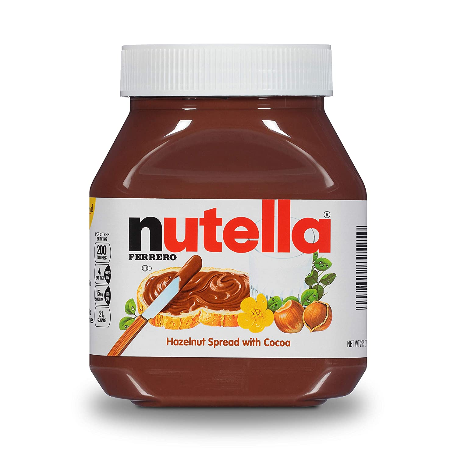 For 654/-(31% Off) Nutella Hazelnut Spread with Cocoa, 750g at Amazon India