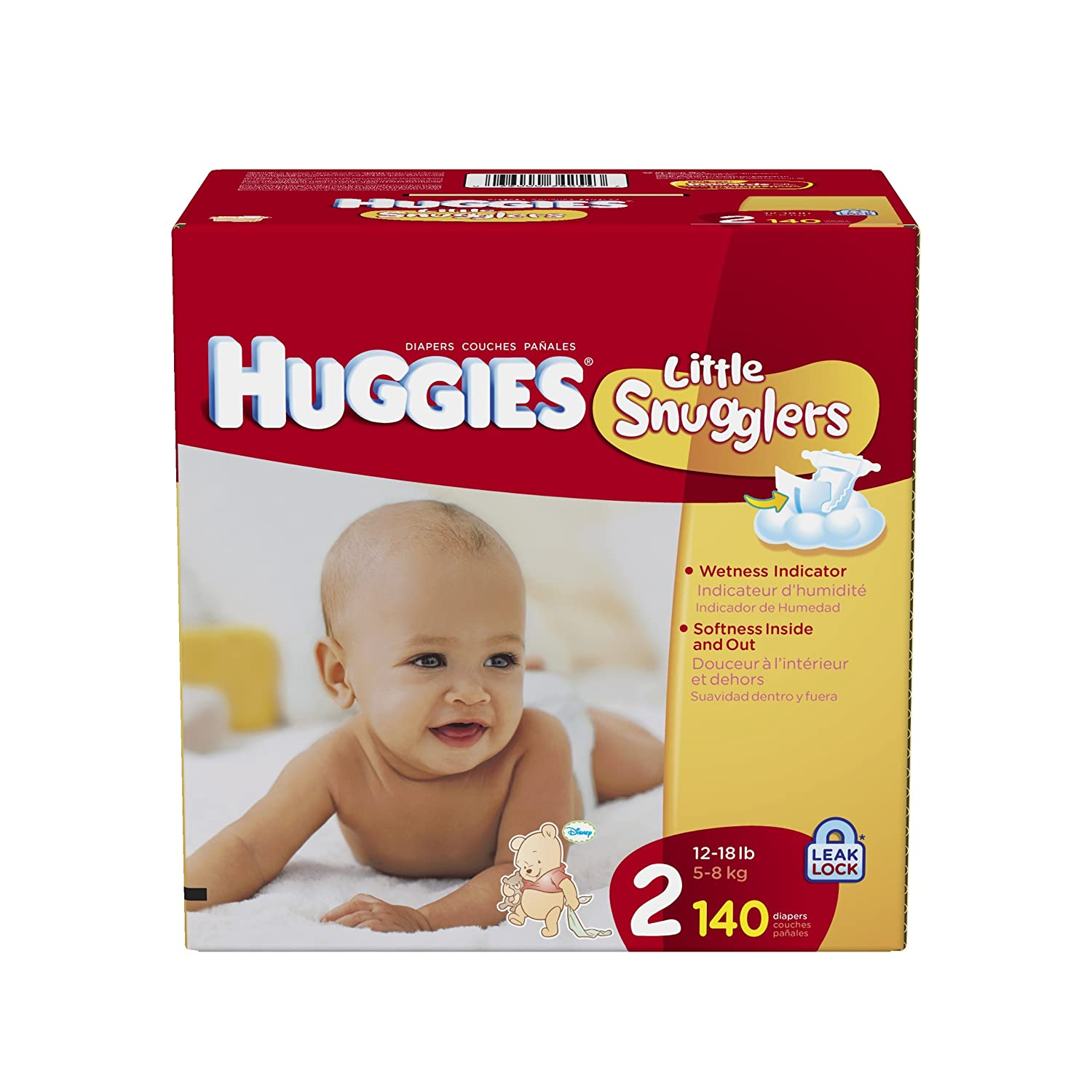 Amazon.com: Huggies Little Snugglers Size 2 Giant Pack, 140 Count: Health &  Personal Care