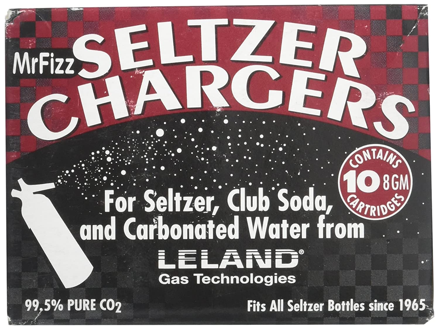 Leland Mr. Fizz CO2 Soda Siphon Chargers, 10 Count Mr Fizz by Leland