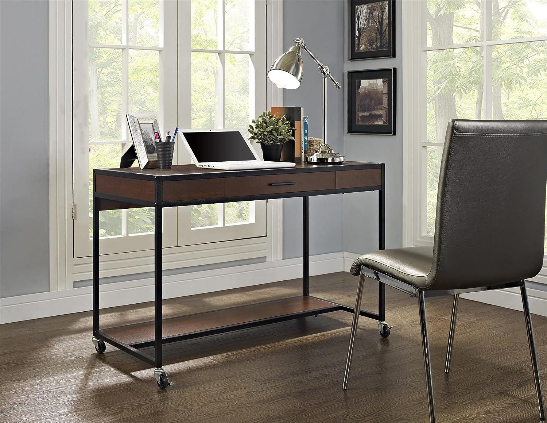 Amazon.com: Altra Mason Ridge Mobile Desk With Metal Frame, Cherry/Black:  Kitchen U0026 Dining