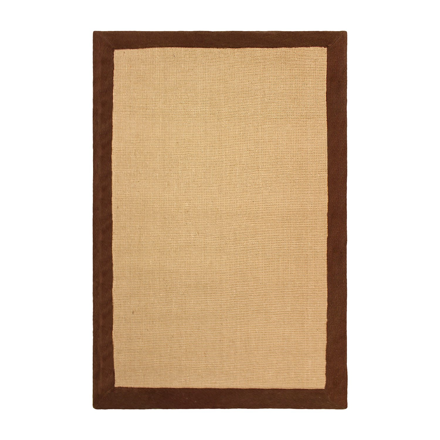 2' x 3' Green Jute Runner Rug, Natural Fiber Collection Hand-Woven Jute Carpet with a Beautiful Colored Border and Non-Slip Rubber Backing, 2-feet by 3-feet Blue Nile Mills 2X3RUG-CLASSIC-JUTE-GN