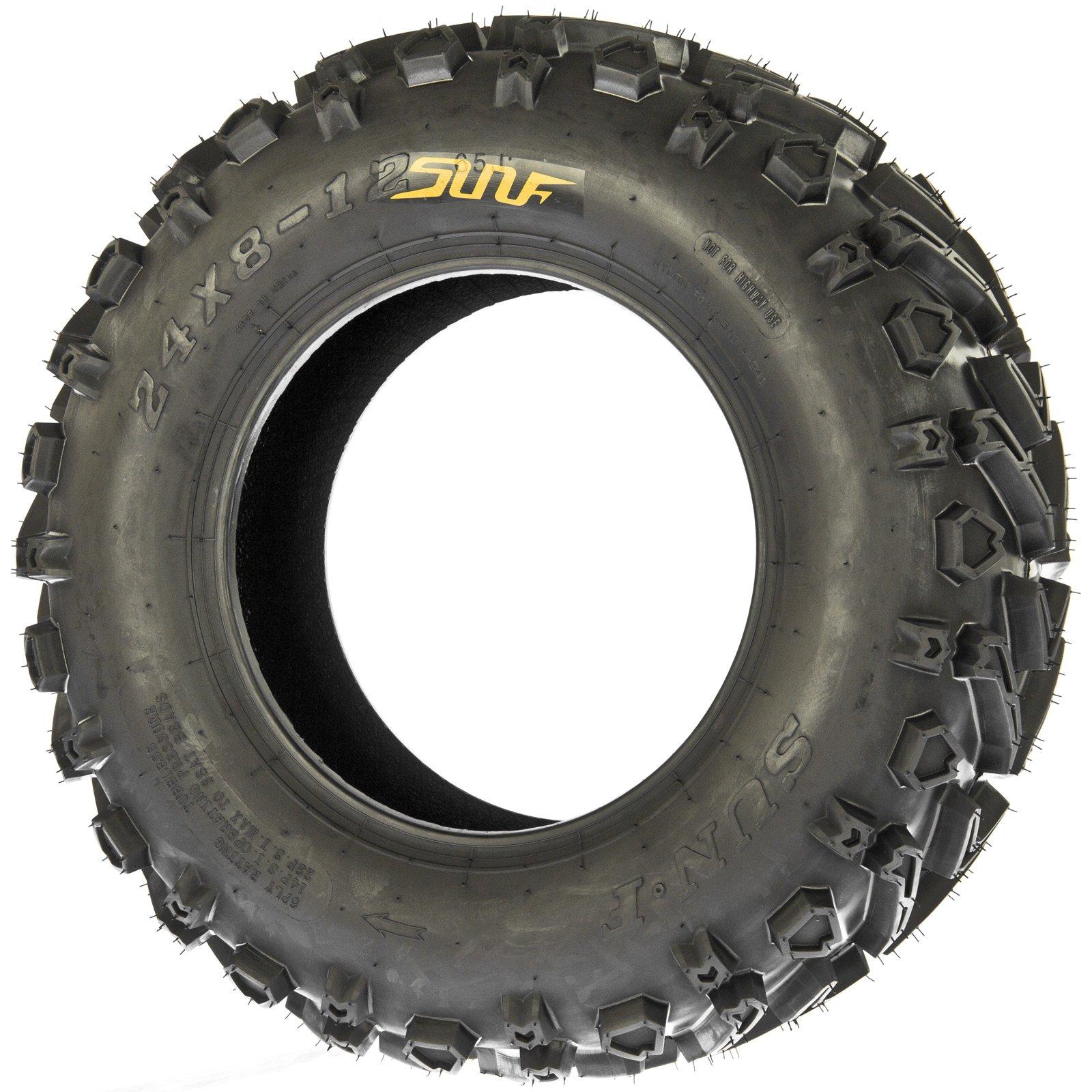 SunF 24x8-12 24x8x12 All Terrain Mud ATV UTV Tires 6 PR A041 (Set pair of 2) by SunF (Image #3)