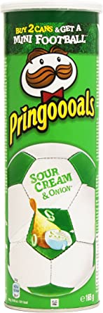 Pringles - Sour Cream Onion, Pack de 3, (3 x 165 g), Total 495 g ...