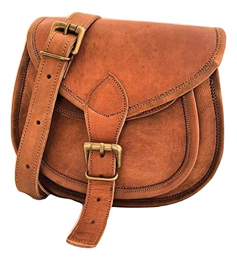 506f3a4dc8f Handmade Women Vintage Style Genuine Brown Leather Cross Body Shoulder  Handmade Purse   Cute Small Leather