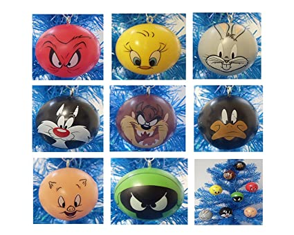 looney tunes 8 piece holiday christmas ornament set featuring 2 ornaments of bugs bunny - Blue Christmas By Porky Pig