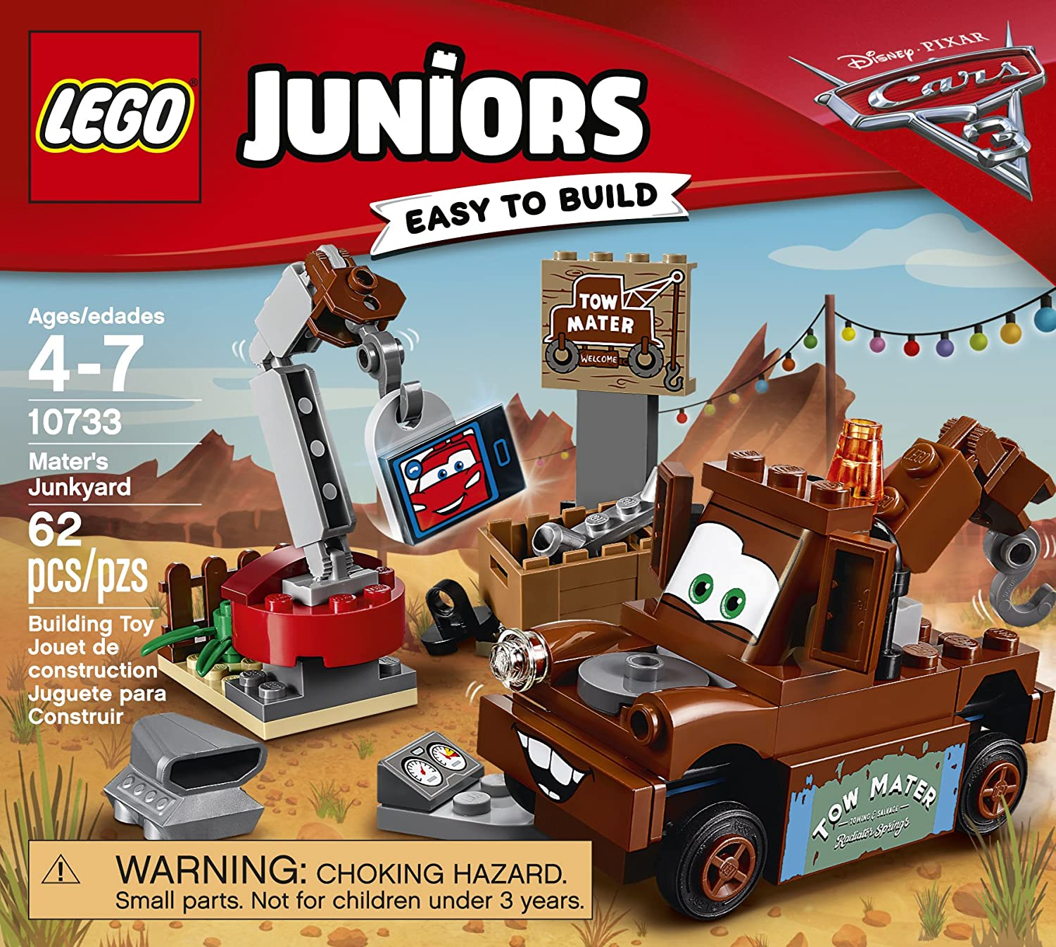 amazon com lego juniors mater u0027s junkyard 10733 building kit toys