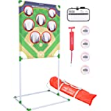 GoSports Football & Baseball Toss Games Available in Football Red Zone Challenge or Baseball Pro Pitch Challenge Choose…