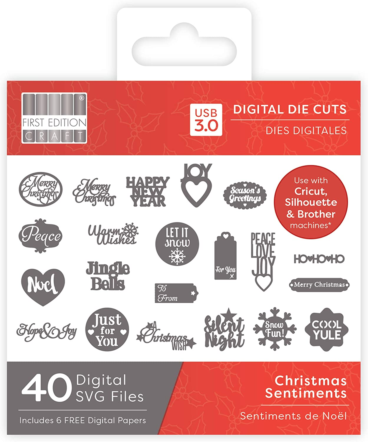 First Edition Christmas 2019 Digital Dies Buildable Multicolour one size