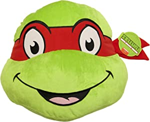 Jay Franco Nickelodeon Teenage Mutant Ninja Turtles Raphael Face Pillow
