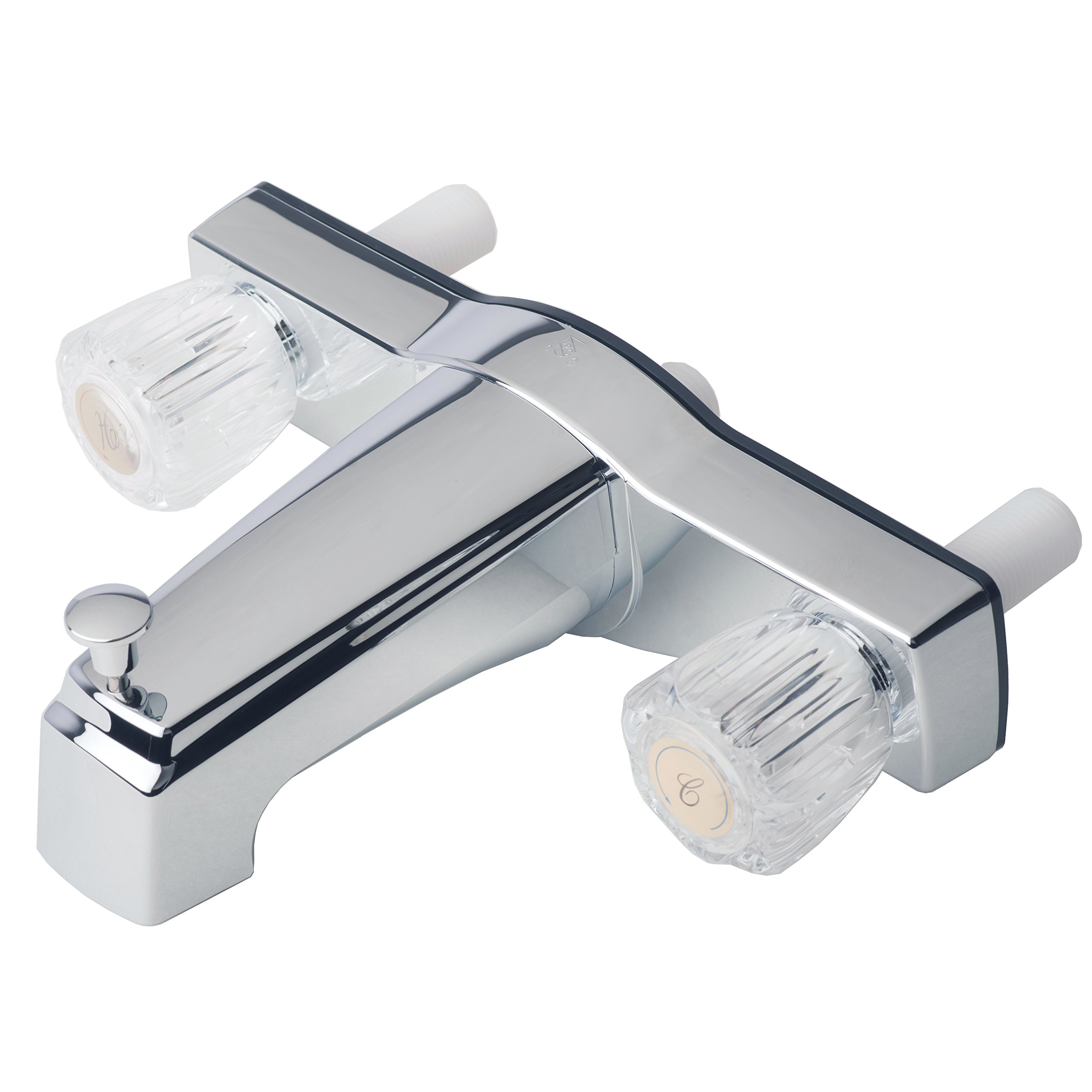 Builders Shoppe 3310ACP Mobile Home Two Handle Non-Metallic 8'' Tub Shower Diverter Chrome Finish