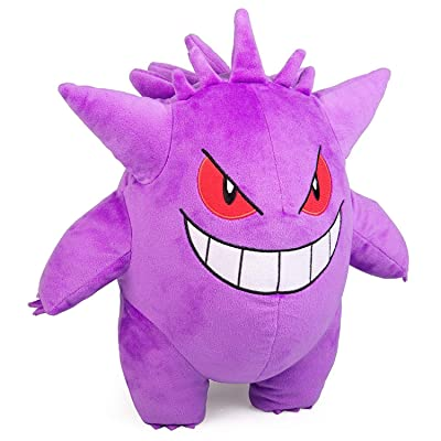 "Pokémon Gengar Plush Stuffed Animal Toy - Large 12"" - Ages 2+: Toys & Games"
