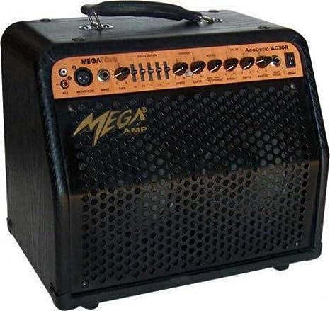 Amplificador para guitarra acústica, Stereo, efectos, también ...