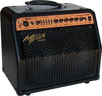 Amplificador para guitarra acústica, Stereo, efectos, también adecuado para Voz