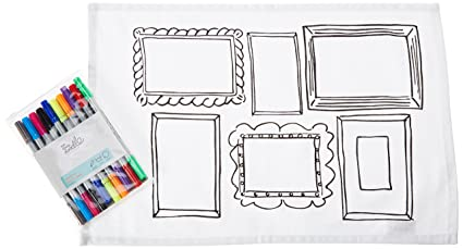 Amazon.com: Doodle \'Frame\' Placemats, Color Your Own Placemats ...