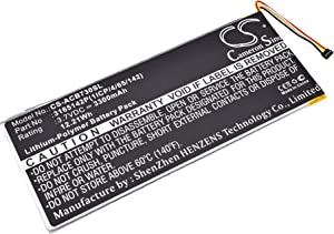 3300mAh Replacement for Acer A1402, Iconia One 7 B1-730, Iconia One 7 B1-730HD Battery, P/N 3165142P, 3165142P(1ICP/4/65/142), KT.0010F.001