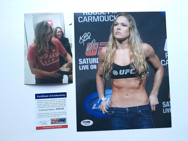 Ronda Rousey Hot! signed UFC MMA 8x10 photo PSA/DNA cert PROOF ...