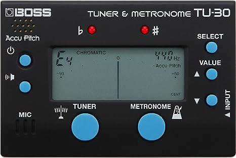 BOSS afinador y metrónomo TU-30: Amazon.es: Instrumentos musicales