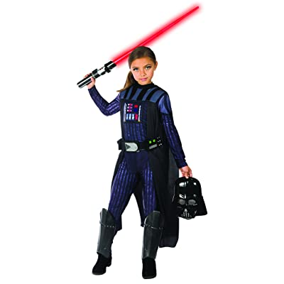 Rubie's Girls Star Wars Classic Darth Vader Costume, Medium: Toys & Games