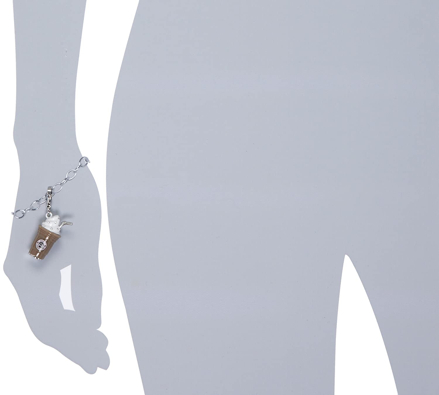 Juicy Couture Charms Silver-Tone Frappe Charm