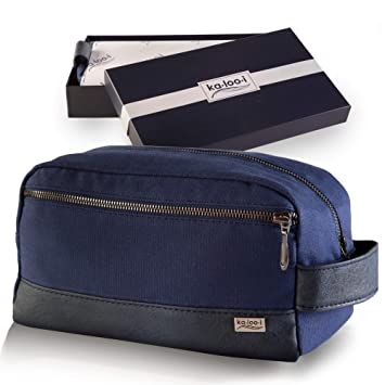 ee36b71b4f Amazon.com   Toiletry Bag for Men - Canvas Dopp Kit for Travel