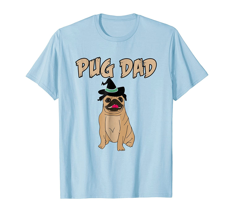 0156e1293 Cute Pet Pug Dog Animal Dad Father Halloween Grave T Shirt-AZP - anzpets