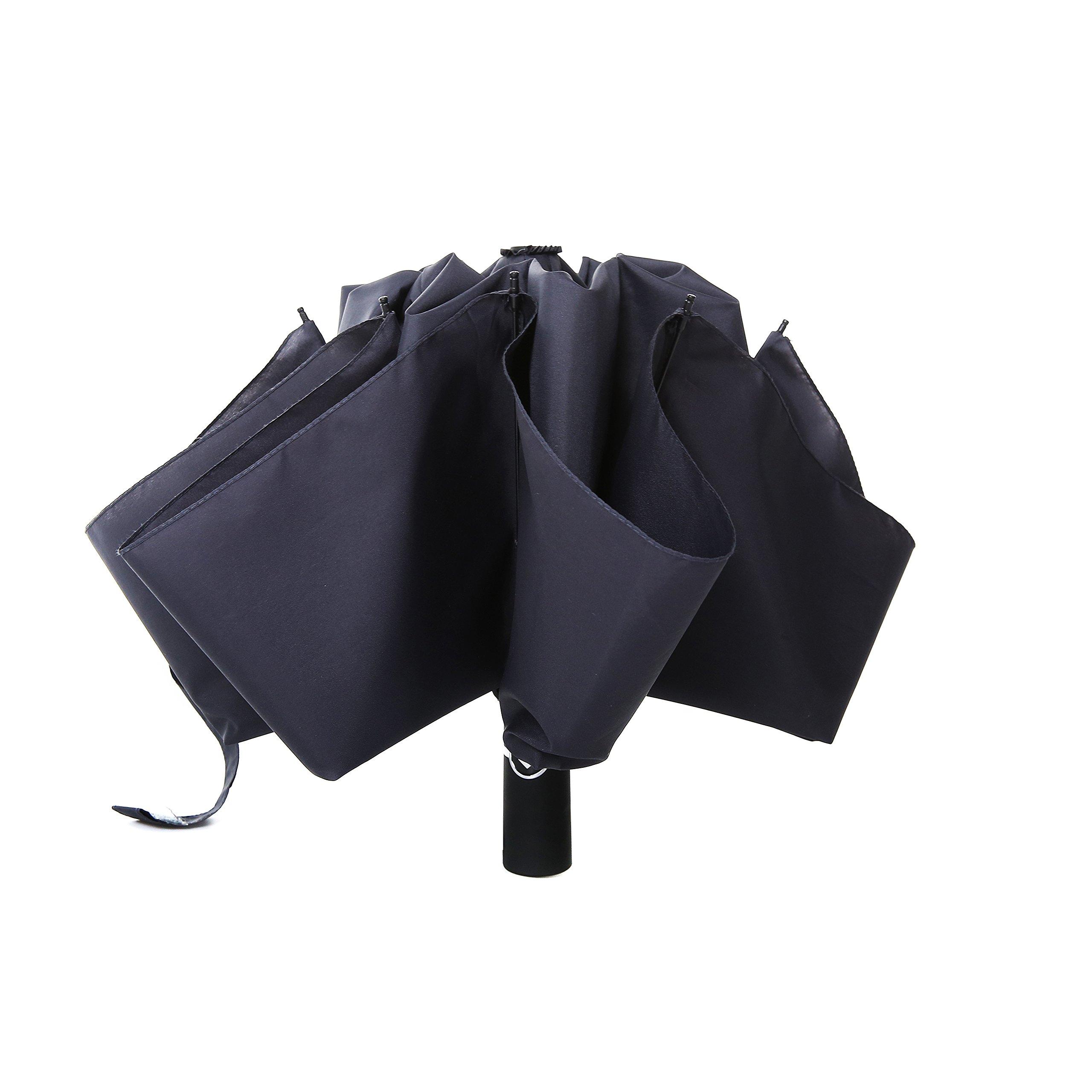 Barasol Compact Travel Umbrella Folding Reverse Umbrella Inverted Golf Automatic
