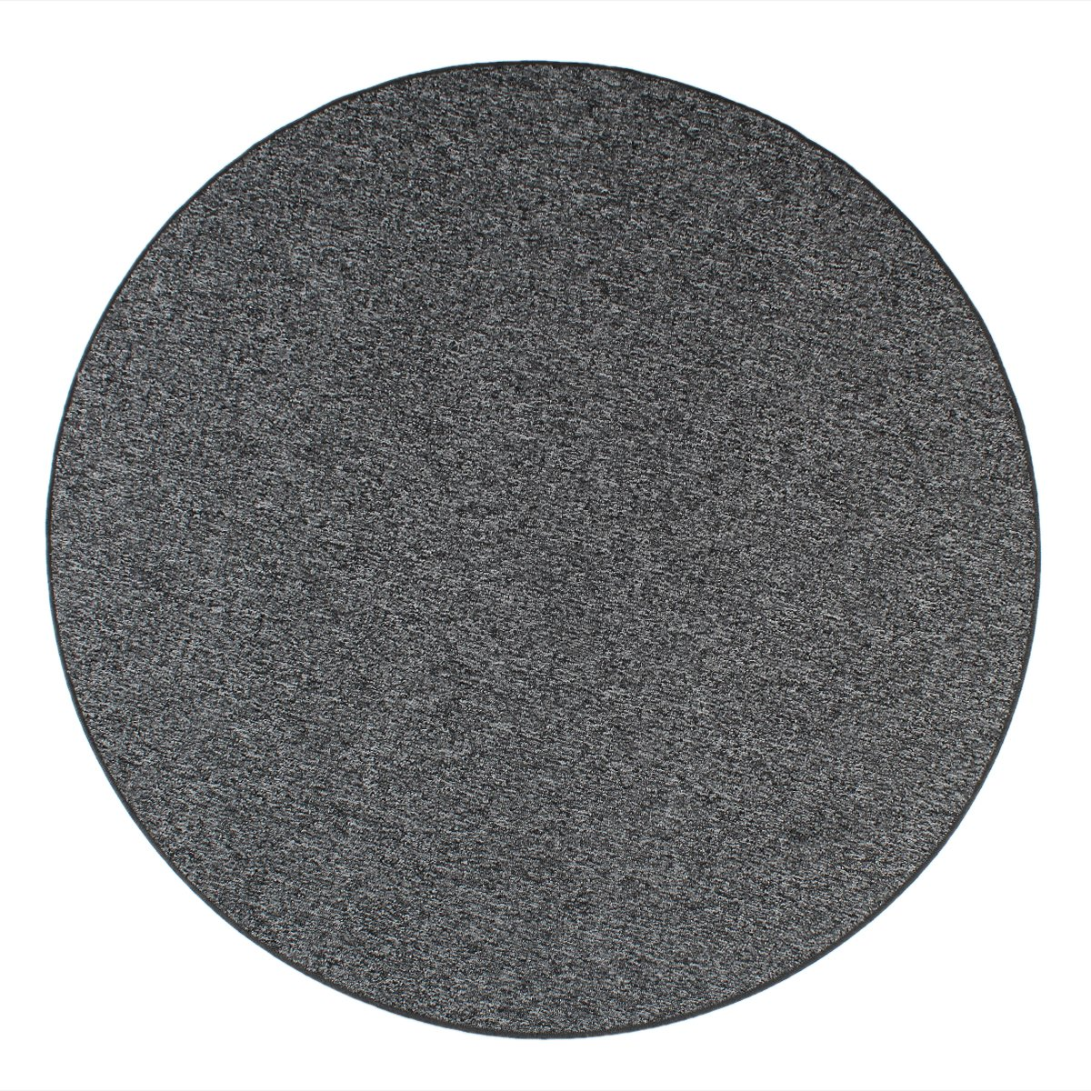 Havatex Schlingen Teppich Snake rund - Farbe wählbar   Geprüfte Qualität  schadstoffgeprüft robust und pflegeleicht   für Wohnzimmer Schlafzimmer Büro, Farbe Anthrazit, Größe 180 cm rund