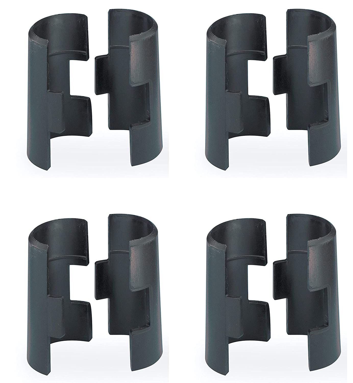 METRO 9985 Replacement Plastic Split Sleeves for Super Erecta Industrial Wire Shelving, Black, Pack of 4