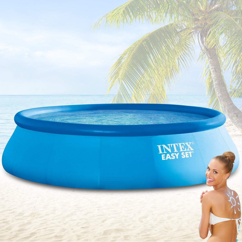 Intex Diámetro 366 x 91 cm Easy Set® swimming pool 28914: Amazon ...