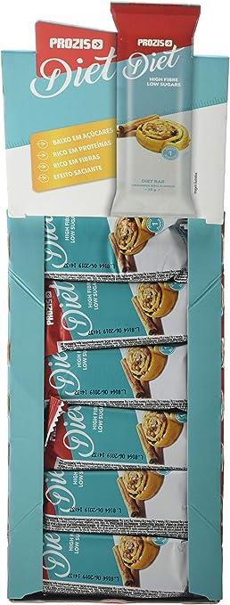 Prozis Diet Bar 12x35g - Delicioso Aperitivo Bollo de Canela ...