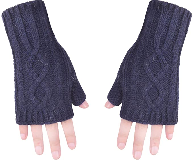 Winter Fingerless Glove Hand Warmer Knit Wrist Warmers For Women